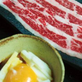 炙りバラすき~サクサク山芋卵黄ダレ~